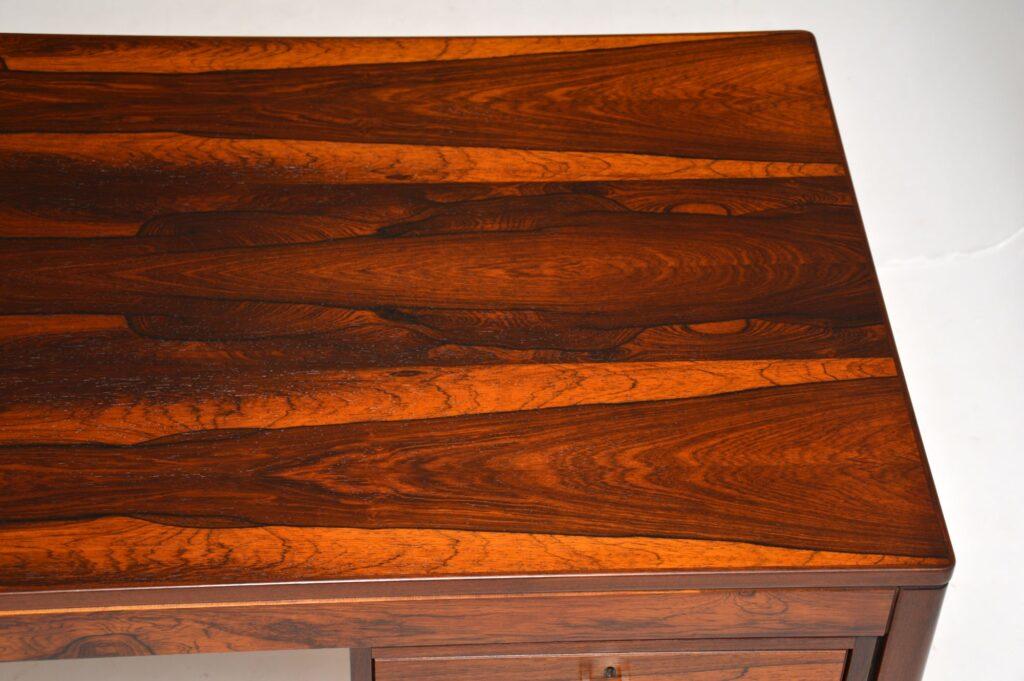 retro vintage scaninavian danish rosewood desk torbjorn afdal