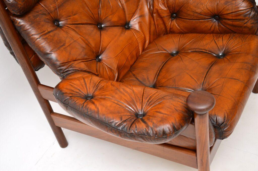 retro vintage guy rogers santa fe leather armchair