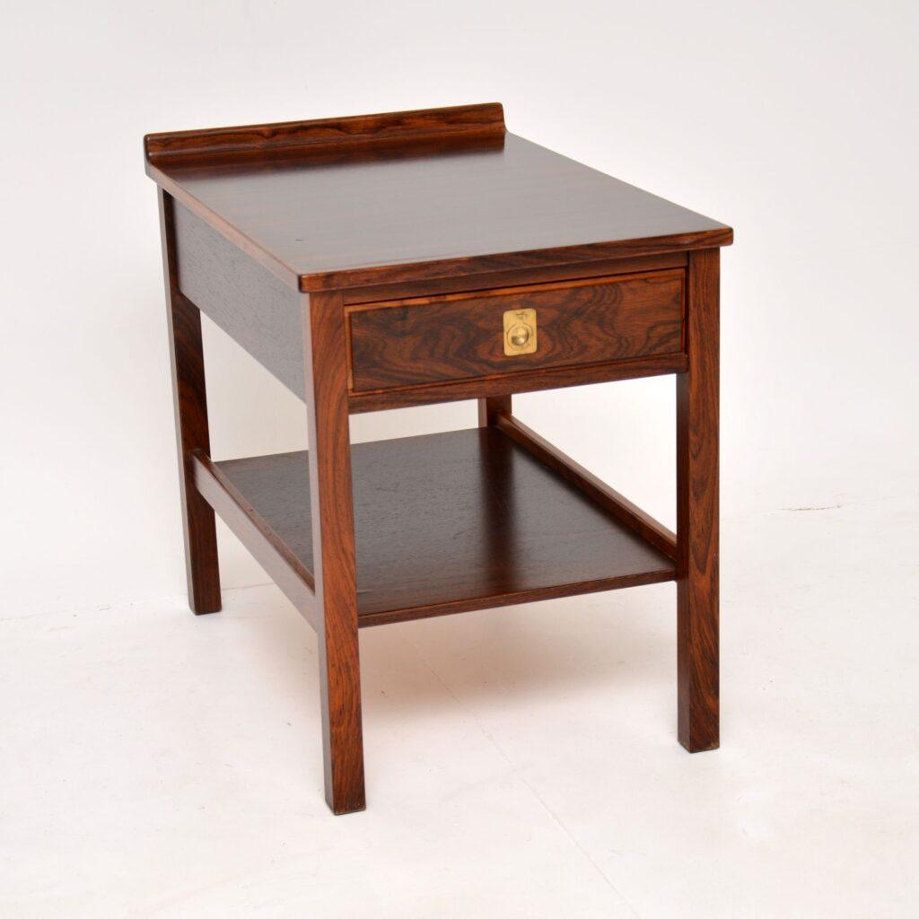 retro vintage rosewood side table robert heritage archie shine
