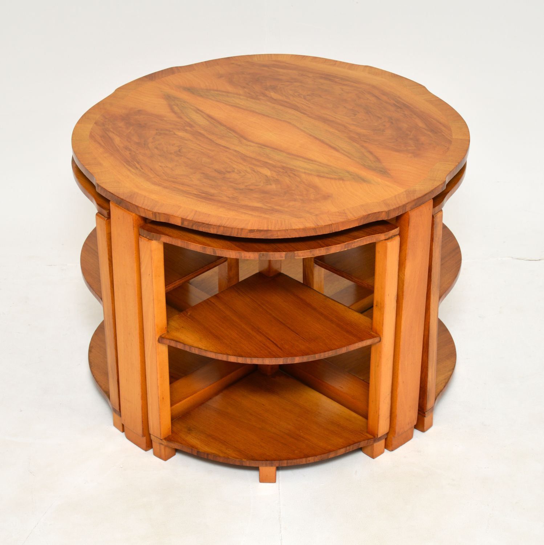 art deco nesting coffee table antique vintage retro