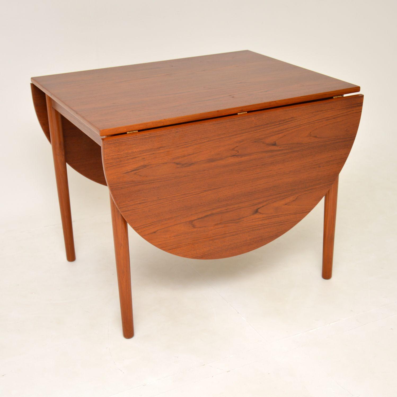 danish retro vintage teak drop leaf dining table bernhard pedersen
