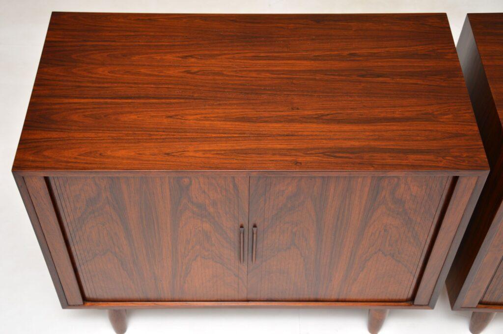 danish retro vintage tambour front pair cabinets sideboard kai kristiansen