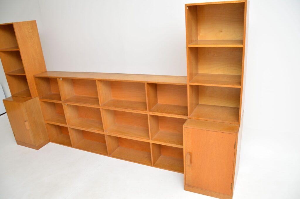 retro vintage oak stacking unix bookcase cabinet